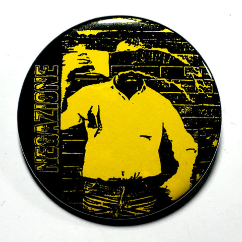"Negazione (Yellow) (1"", 1.25"", or 2.25"") Pin"
