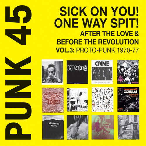 "V/A ""PUNK 45: Sick on You! One Way Spit! (Proto-Punk 1969-76) Compilation LP"