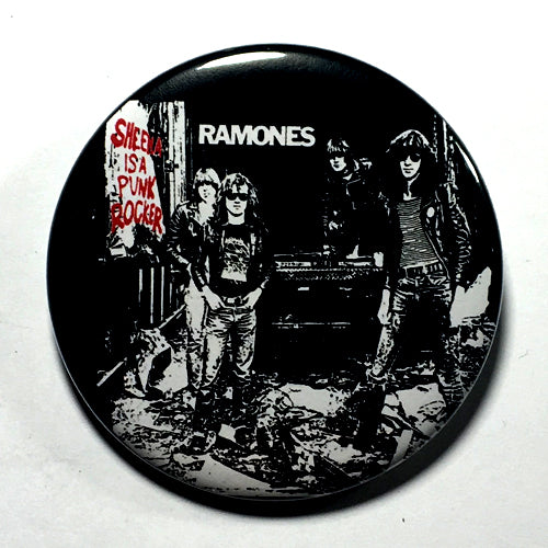"Ramones ""Sheena is a Punk Rocker"" (1"", 1.25"", or 2.25"") Pin"