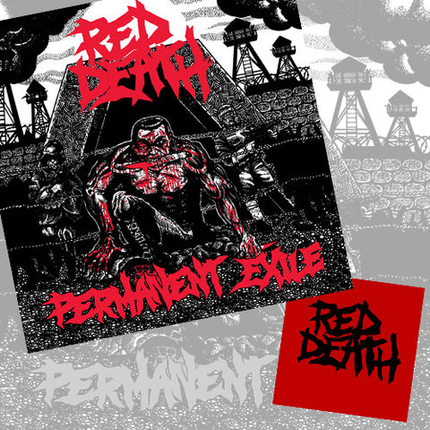 "RED DEATH ""Permanent Exile"" LP w/ S/T 7"" Combo"