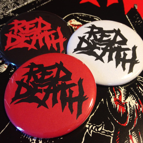 "RED DEATH ""Logo"" Pin (1"" or 2.25"")"