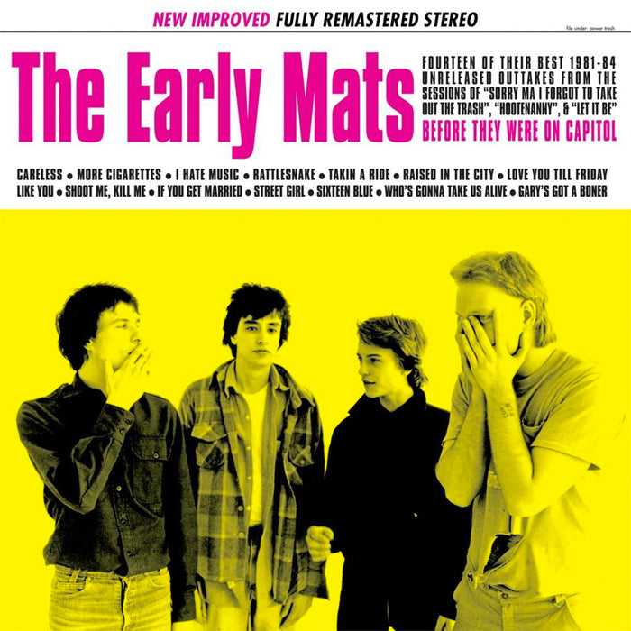 "REPLACEMENTS, THE ""Early Mats: 1981-1984 (Remastered)"" LP"