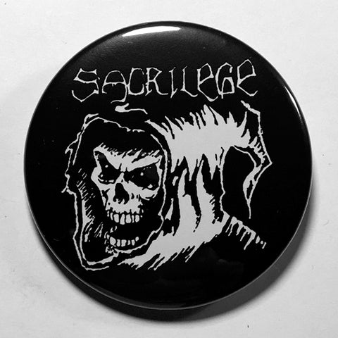 "Sacrilege ""A Violation of Something Sacred"" (1"", 1.25"", or 2.25"") Pin"