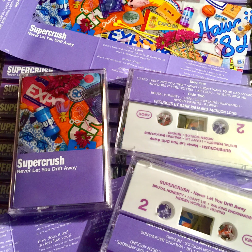 "SUPERCRUSH ""Never Let You Drift Away"" Tape"