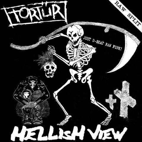 "TORTUR / HELLISH VIEW ""Raw Split"" LP"