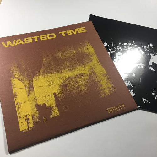 "SILKSCREENED COVER (STOCK COPIES): WASTED TIME ""Futility"" LP"