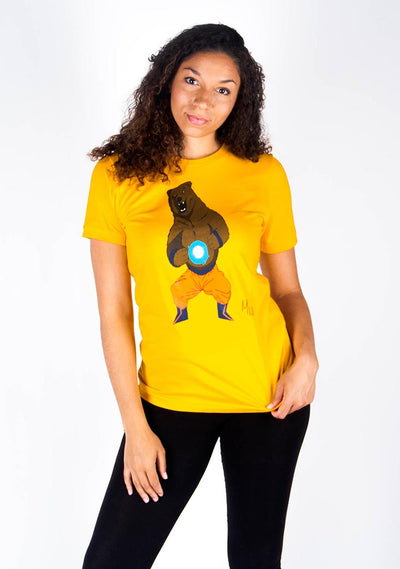 Bare Anime DBZ (Yellow)-T Shirt - Bare All Clothing