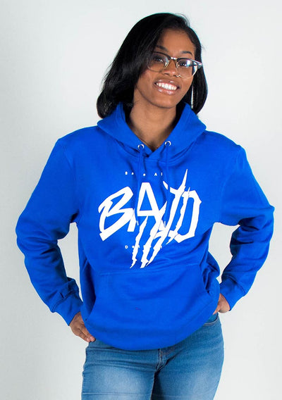 B.A.D. Lions (Royal Blue/White)-Hoodie - Bare All Clothing