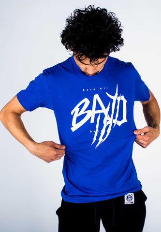 B.A.D. Lions (White/Blue)-T Shirt - Bare All Clothing