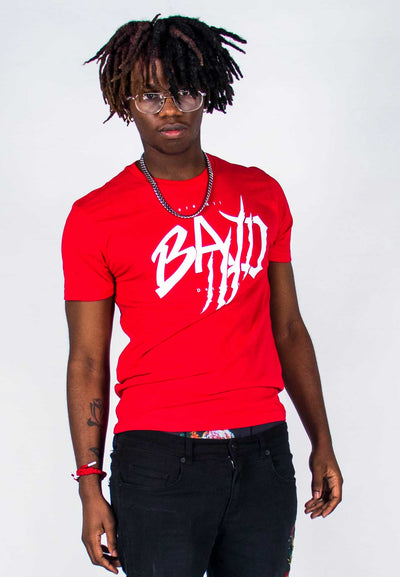 B.A.D. Red Wings (White/Red)-T Shirt - Bare All Clothing