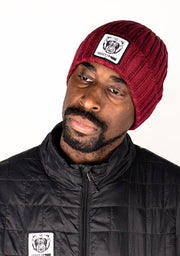 Beanie Hat (Maroon) - Bare All Clothing