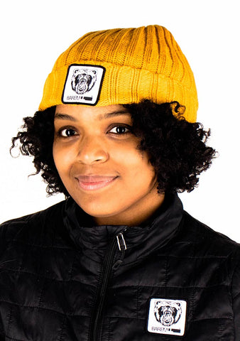 Beanie Hat (Mustard) - Bare All Clothing