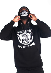 Bare All Hoodie (Black/White) - Bare All Clothing