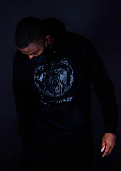 Bare All Hoodie (Black/Black) - Bare All Clothing