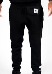 Bare All Essential Patch Joggers (Black) - Bare All Clothing