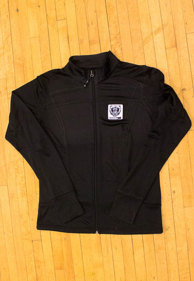 Women's Track Jacket (Black) - Bare All Clothing
