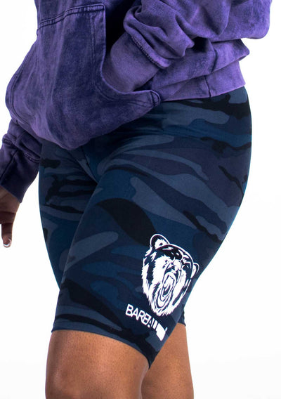 Bare All Biker Shorts (Blue Camo) - Bare All Clothing