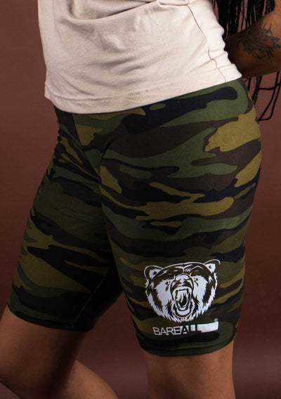 Bare All Biker Shorts (Camo) - Bare All Clothing
