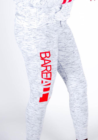 Bare All Comfy Joggers (Ash/Red) - Bare All Clothing