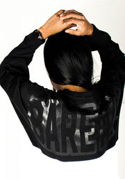 Oversize Two-Tone Long Sleeve Shirt (Black/White) - Bare All Clothing