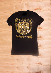 Logo T-Shirt (Black/Gold) - Bare All Clothing