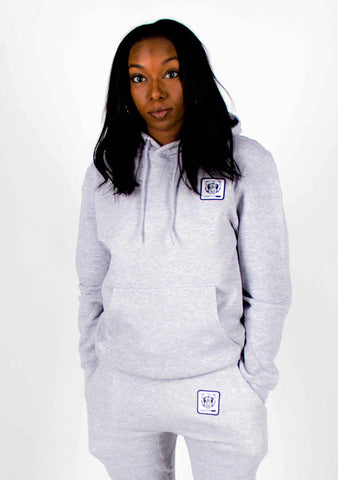 Bare All Essential Patch Hoodie (Light Grey) - Bare All Clothing