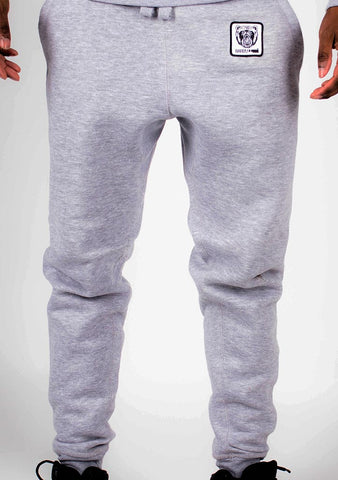 Bare All Essential Patch Joggers (Light Grey) - Bare All Clothing