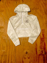 White Camo Crop Windbreaker - Bare All Clothing