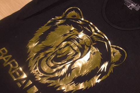 Logo Tank (Black/Gold ) - Bare All Clothing