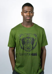 Logo T-Shirt (Olive/Black) - Bare All Clothing