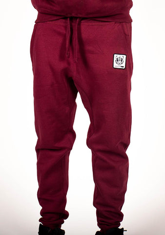 Bare All Essential Patch Joggers (Maroon) - Bare All Clothing