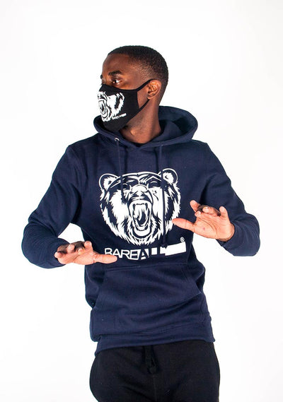 Bare All Hoodie (Navy/White) - Bare All Clothing