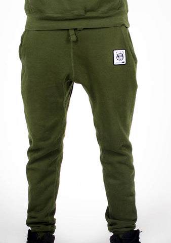 Bare All Essential Patch Joggers (Olive) - Bare All Clothing