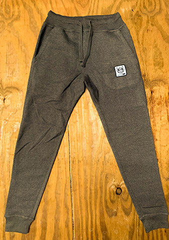 Bare All Patch Joggers (Dark Grey) - Bare All Clothing