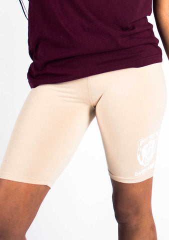 Bare All Biker Shorts (Soft Cream) - Bare All Clothing