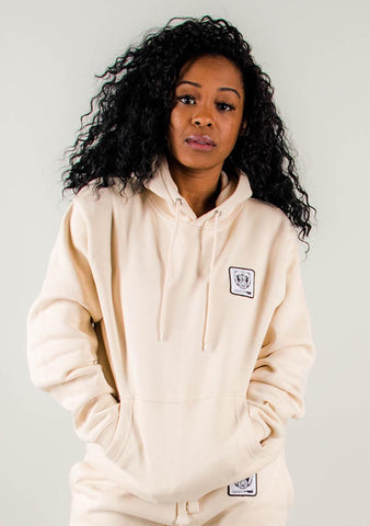 Bare All Essential Patch Hoodie (Soft Cream) - Bare All Clothing