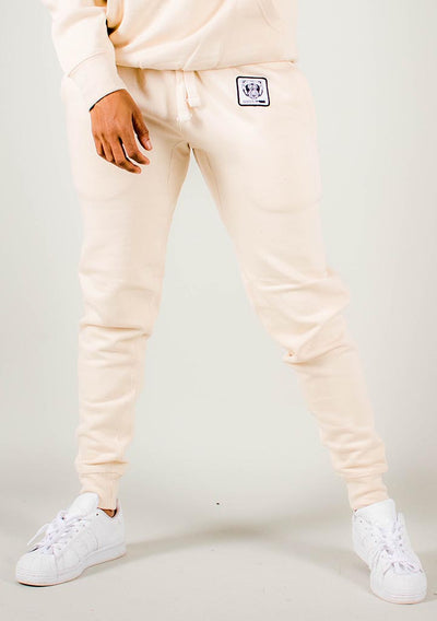 Bare All Essential Patch Joggers (Soft Cream) - Bare All Clothing