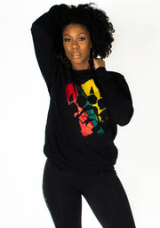 The Celebration Crewneck Sweatshirt (Black) - Bare All Clothing