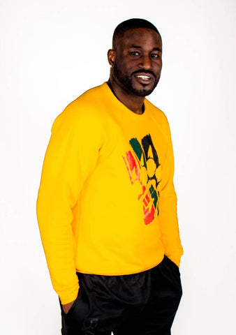 The Celebration Crewneck Sweatshirt (Gold) - Bare All Clothing