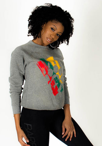 The Celebration Crewneck Sweatshirt (Grey) - Bare All Clothing