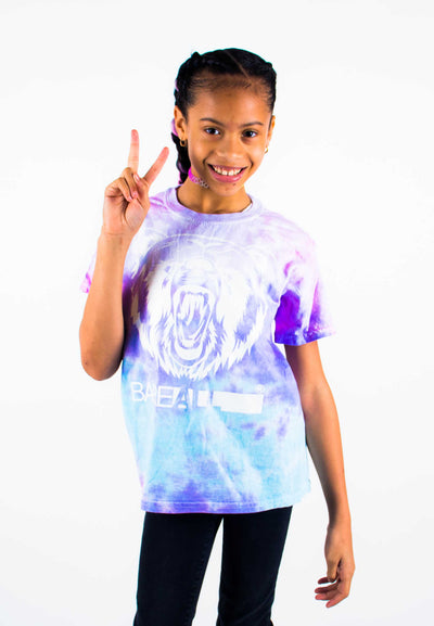Tye-Dye Bare All T-Shirt YOUTH (White/Cotton Candy Tye-Dye) - Bare All Clothing