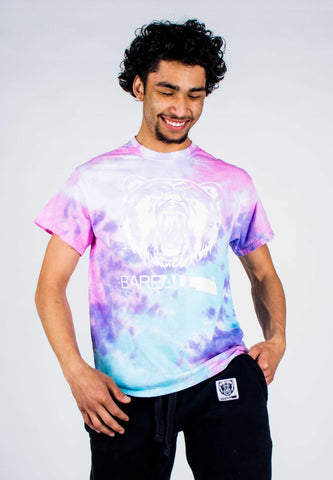 Tye-Dye Bare All T-Shirt (White/Cotton Candy Tye-Dye) - Bare All Clothing