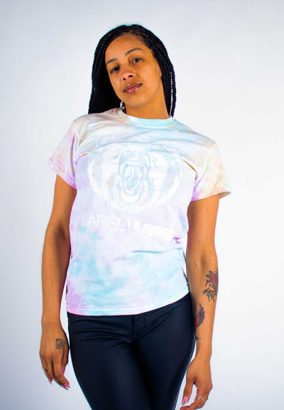 Tye-Dye Bare All T-Shirt UNISEX (White/Snow Cone Tye-Dye) - Bare All Clothing