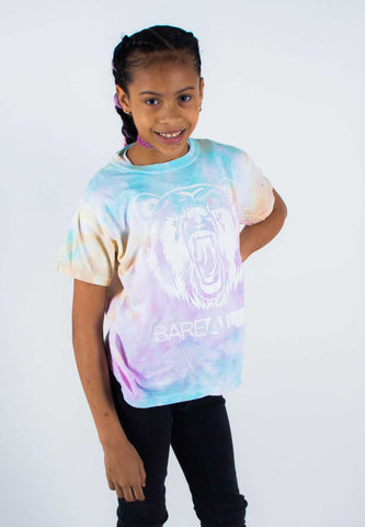 Tye-Dye Bare All T-Shirt YOUTH (White/Snow Cone Tye-Dye) - Bare All Clothing