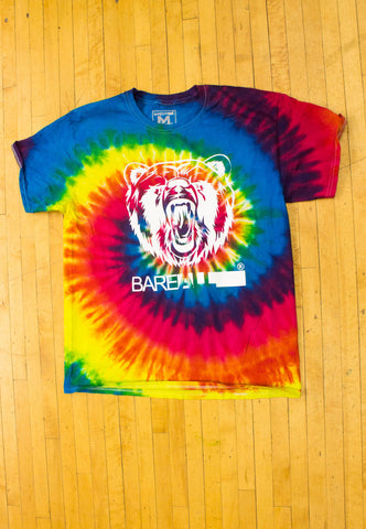 Logo T-Shirt (White/Tye-Dye) - Bare All Clothing