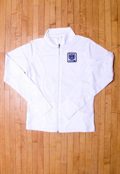 Women's Track Jacket (White) - Bare All Clothing