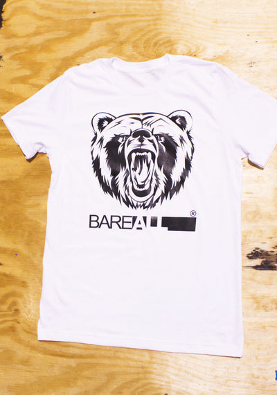 Logo T-Shirt (White) - Bare All Clothing