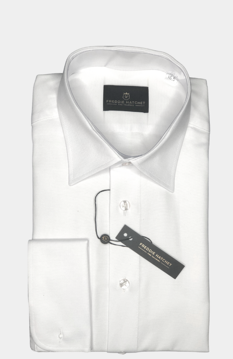 WHITE SLIM FIT DRESS SHIRT