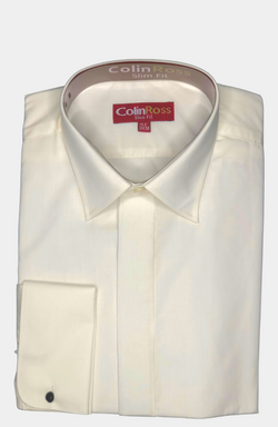 IVORY TAILORED FIT DRESS SHIRT
