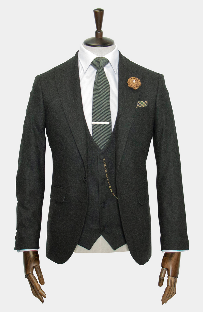 BARRA GREEN: 3 PIECE SUIT - MADE TO ORDER
